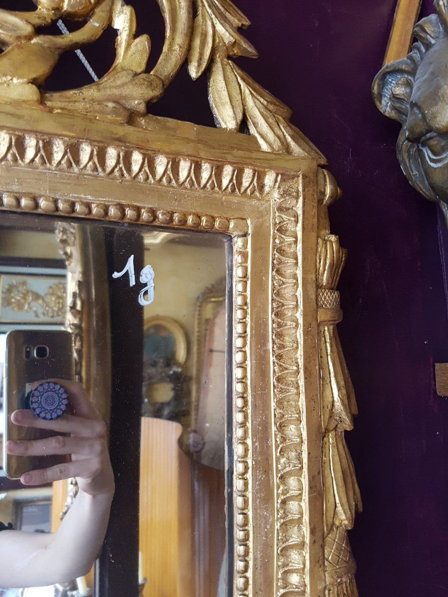 Mirror Louis XVI In Golden Wood 117x71cm