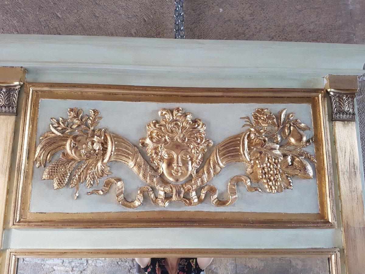 Empire Style Trumeau Mirror 162x110cm