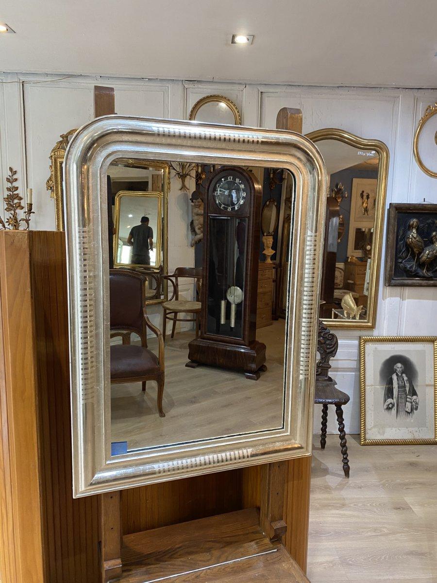 Louis-philippe White Gold Mirror