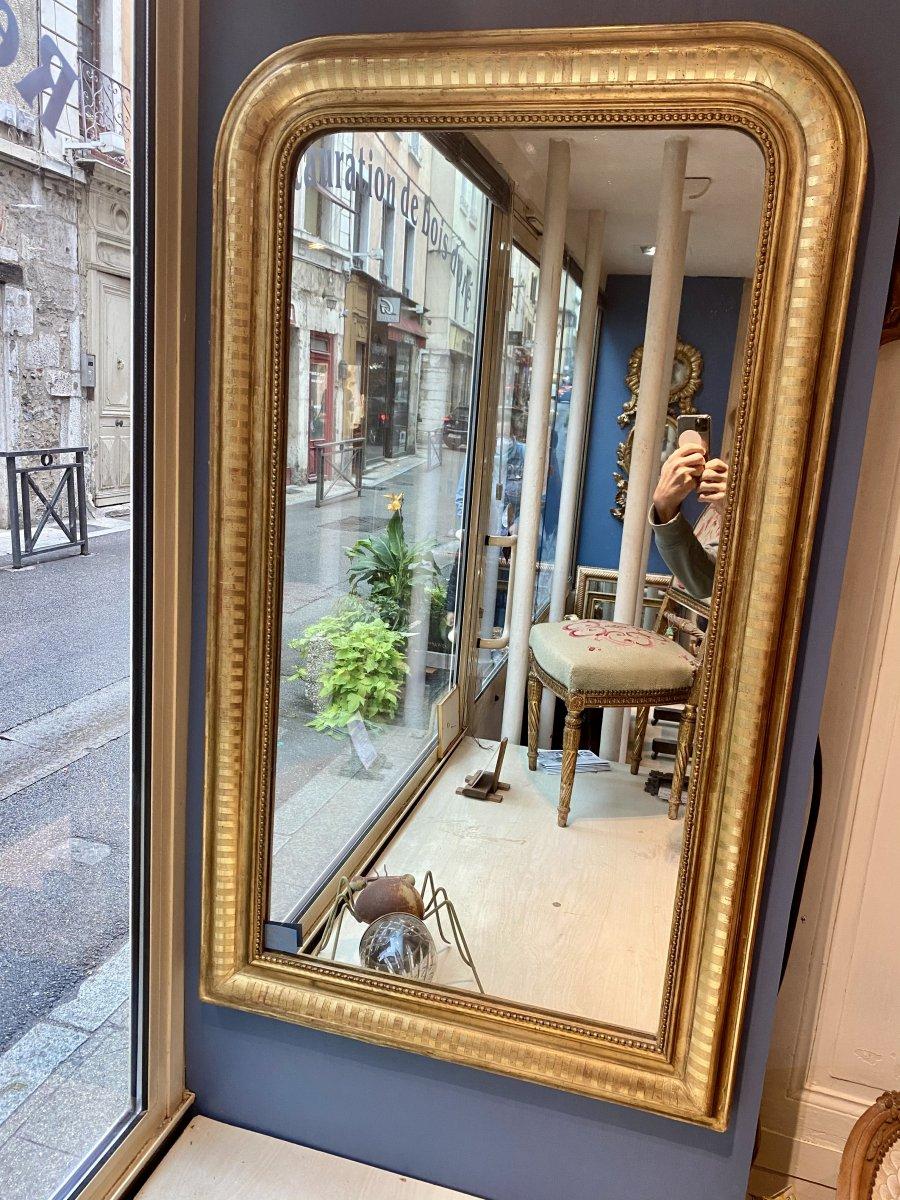 Louis-philippe Golden Wood Mirror