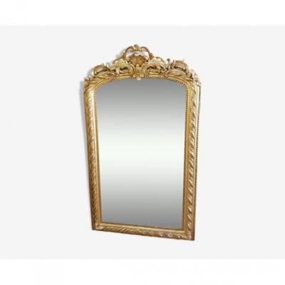 Miroir Louis-philippe En Bois Doré 176x105cm