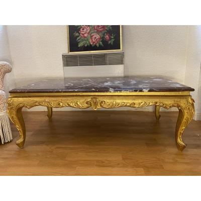 Golden Wood Coffee Table