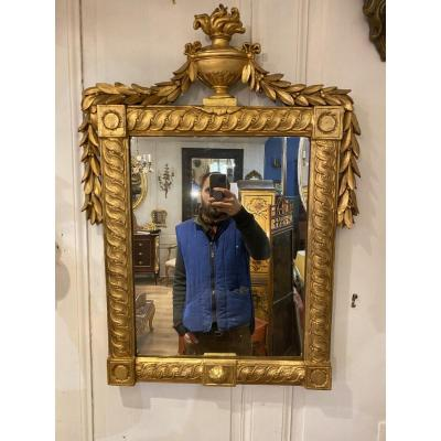 Miroir Bois Doré Louis XVI