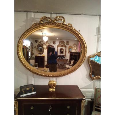 Miroir Ovale De Style Louis XVI