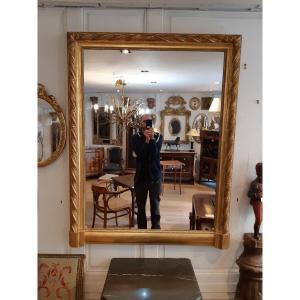 Miroir En Bois Doré XIXe