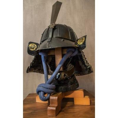Hari Bachi Kabuto With Maedate, Menpo From Mid Edo Era With Stand And Port Included