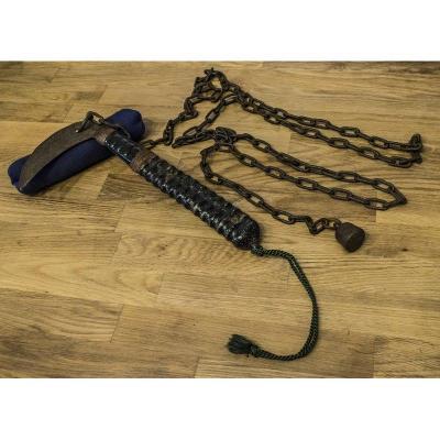 Très Rare Kusarigama (arme de Kobudo : composée d'un Kama + chaine +poids) Période Fin Edo