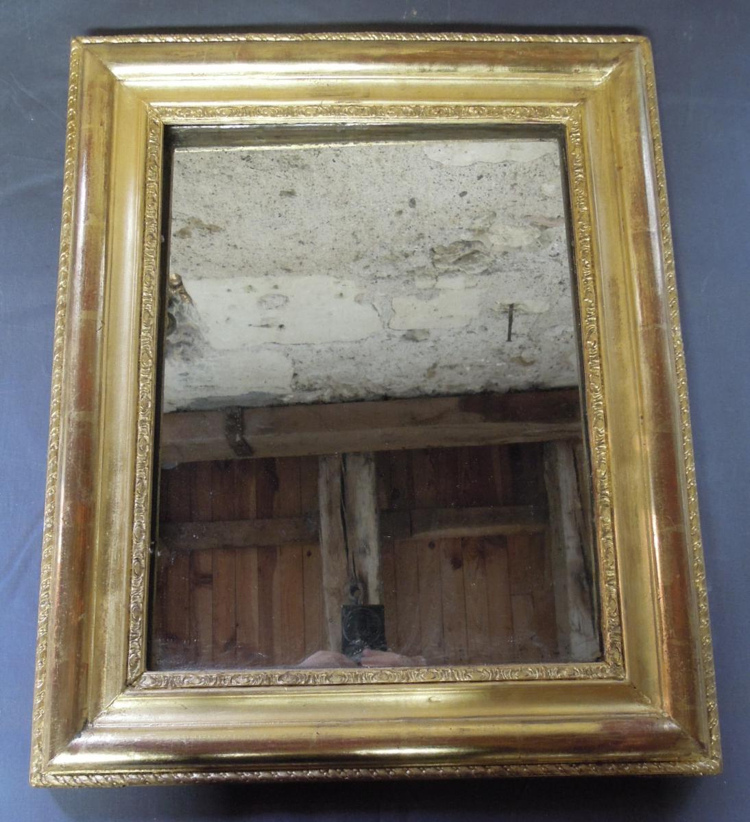 Miroir XIXème En Bois Doré