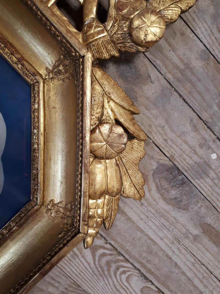 Golden Wood Barometer Late 18th-photo-3