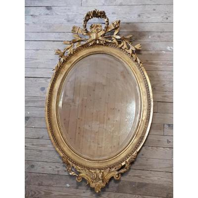 Miroir Ovale 19ème