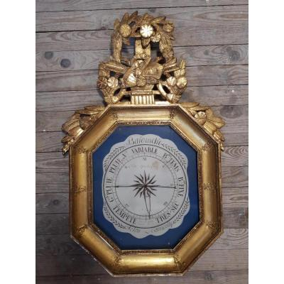 Golden Wood Barometer Late 18th