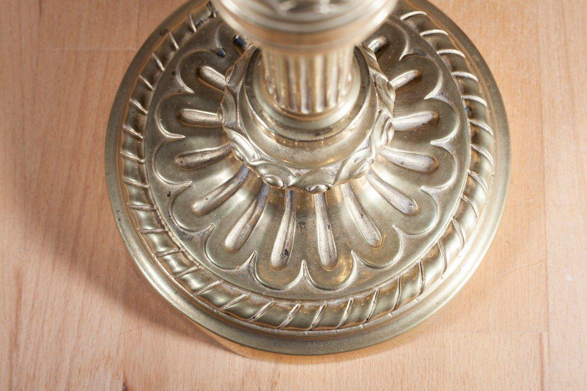 Paire De Flambeaux En Bronze XIX ème-photo-1
