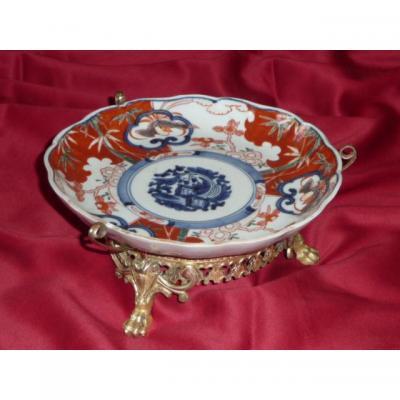 Plat Imari Porcelain Gilt Bronze Mounted XIX