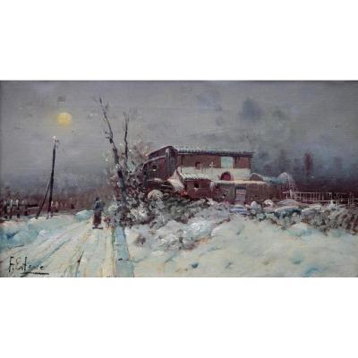 Oil On Canvas From F. Esteve