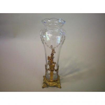 Vase Bulb Glass And Mount Bronze