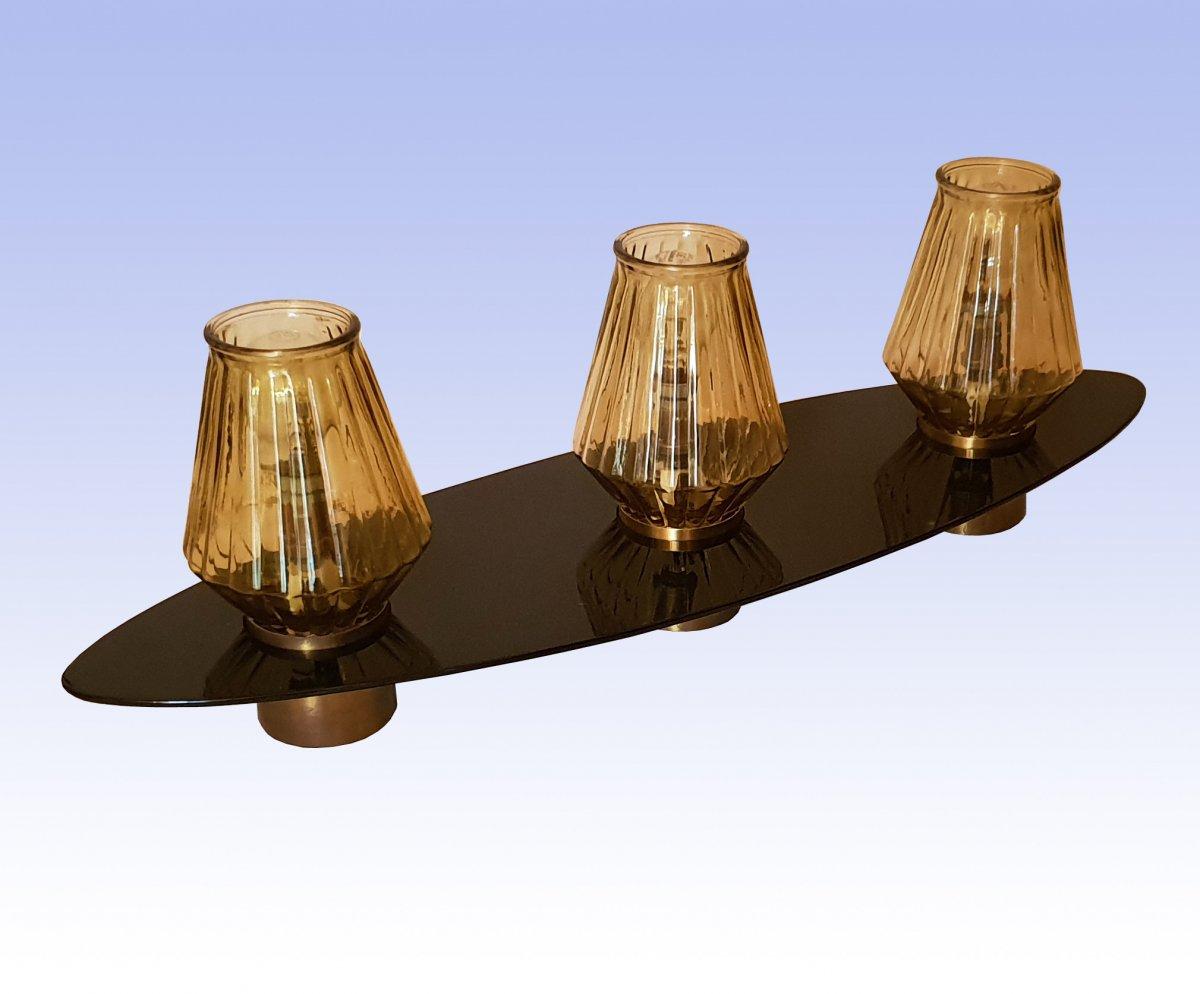 Lampe Navette 1950, Maison Arlus, 69 cm