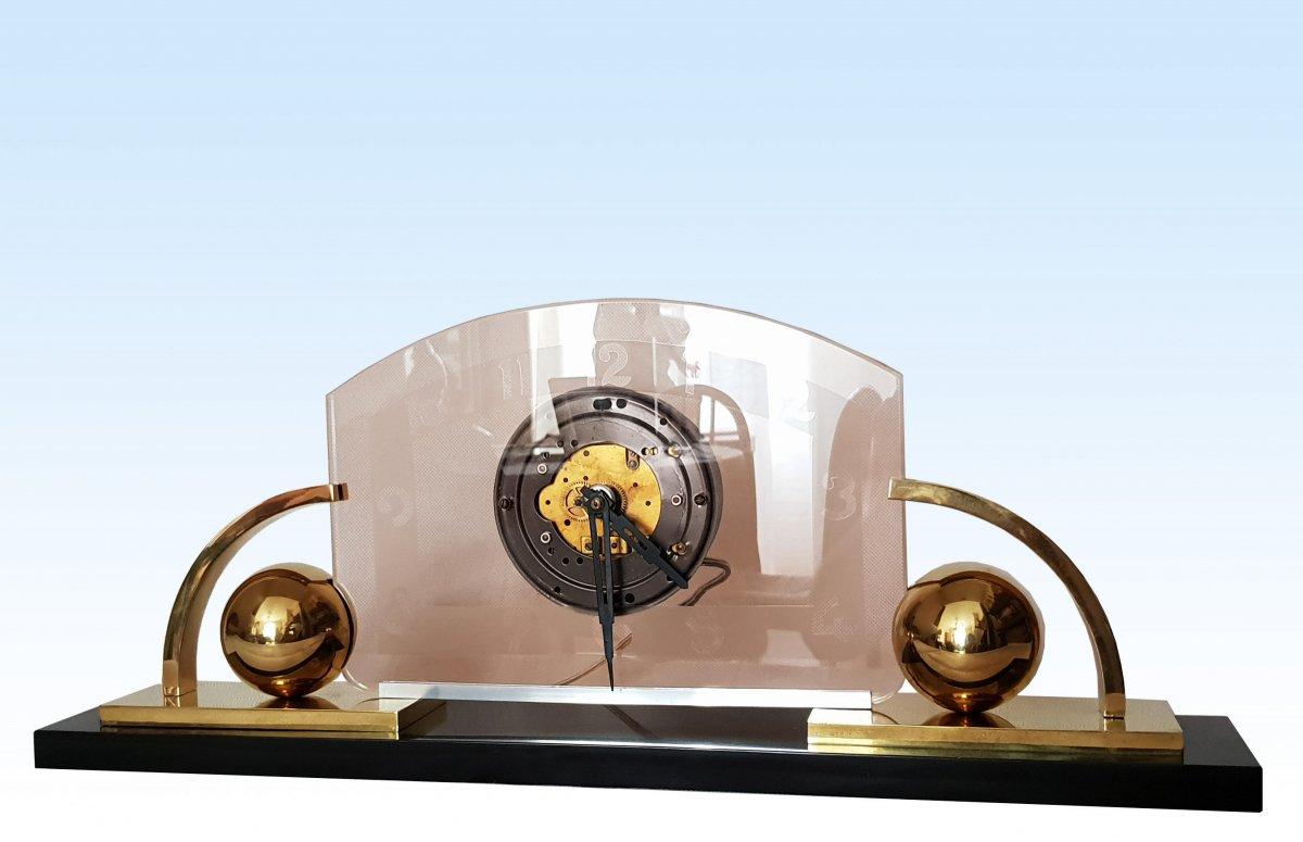 Grande Pendule Moderniste Art Déco mouvement électrique