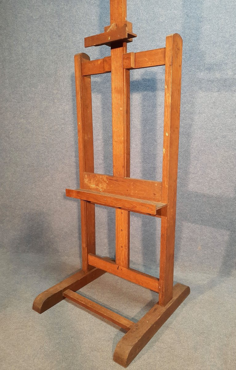 19th Century Oak Painter's Easel