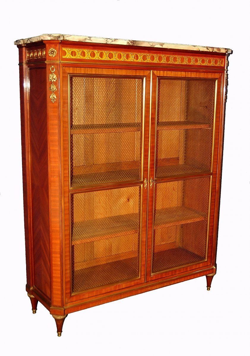 St Louis XVI Library Gilt Bronze Rosewood And Rosewood