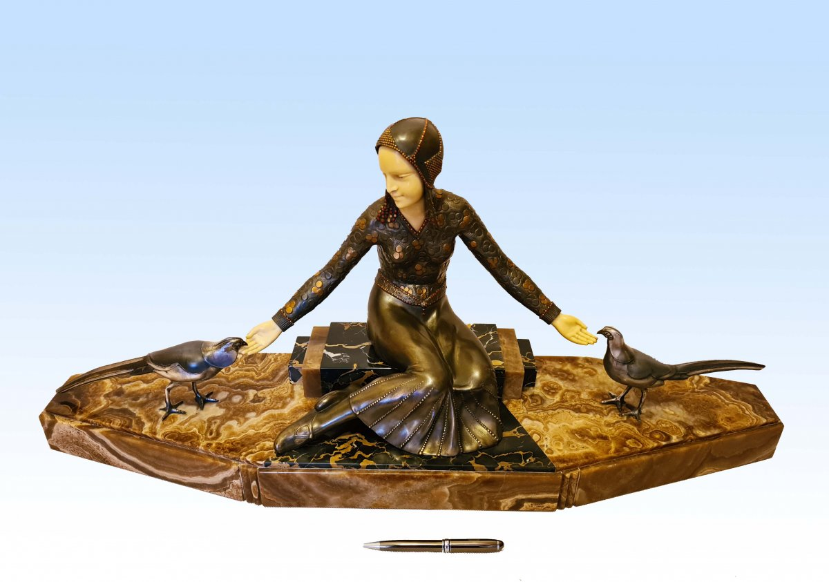 Important Art Deco Sculpture 1925 By Georges Gori (85 Cm)