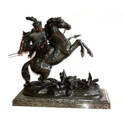 Horse Warrior Important Sculture