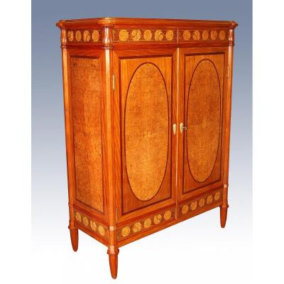 Small Cabinet 1925 Marquetry Attributed To Maurice Dufrene