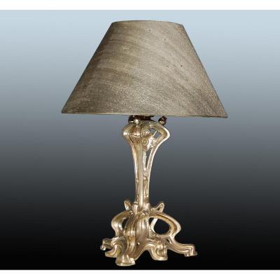 Lampe aux chardons Art Nouveau