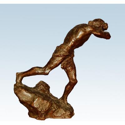 Auguste Carli (1868-1930) Sculpture En Bronze Siot fondeur