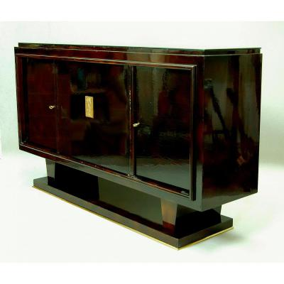 enfilade art d co 1930 en laque nuag buffets enfilades. Black Bedroom Furniture Sets. Home Design Ideas