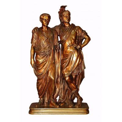 Bronze Personnages Romains XIXe