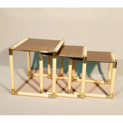 1970's Nesting Table By Tommaso Barbi