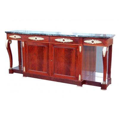 Empire Mahogany And Gilt Bronze Sideboard