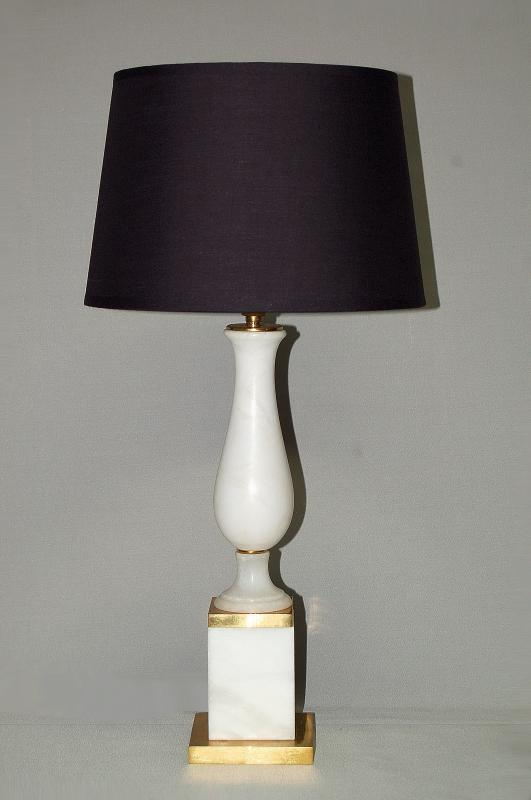 Neoclassical Lamp In Alabaster And Gilt Bronze-photo-2