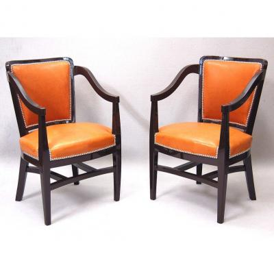 Art Deco Passenger Chairs By René Prou (1889-1948)
