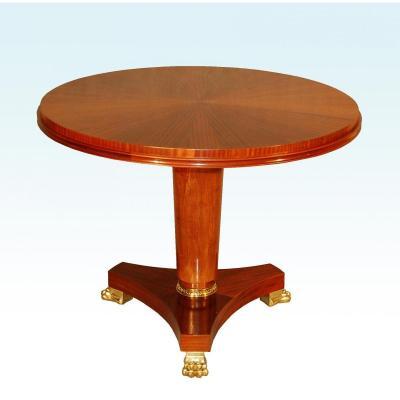 Table Guéridon 1940  Dlg André Arbus Pieds griffes En Bronze