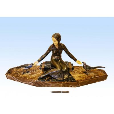 Importante Sculpture Art Déco 1925 Par Georges Gori (85 cm)