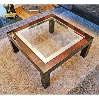 Table Basse En Parchemin 70's Par Aldo Tura