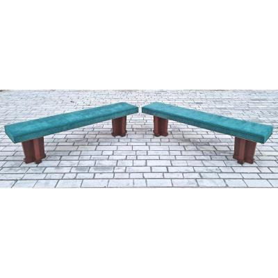 Pair Of Large Art Deco Benches