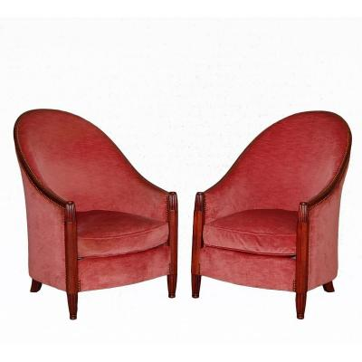 Armchairs 1925 By Dim René Joubert And Philippe Petit