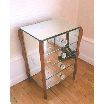 1950 Engraved Mirror Commode