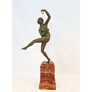 Maurice Guiraud Riviere (1881 - 1947) Sculpture En Bronze Art Déco