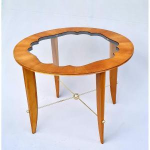 Table Basse Art Déco En Merisier Et Bronze