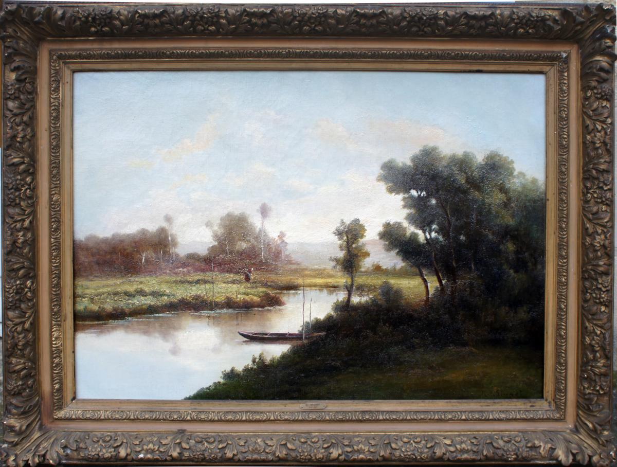 Landscape Signed Stuart Nineteenth Century