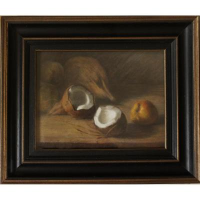 Coconut Signed H Darien 1864/1926