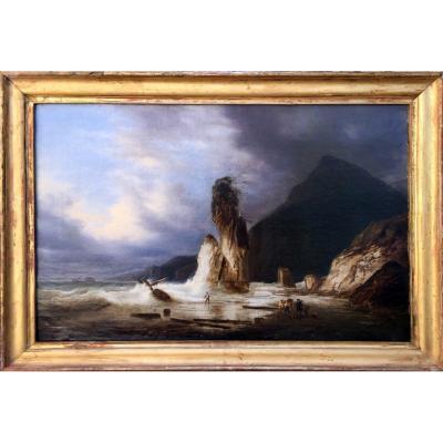 Marine Période Romantique Att. Auguste Jugelet (1805/1874)