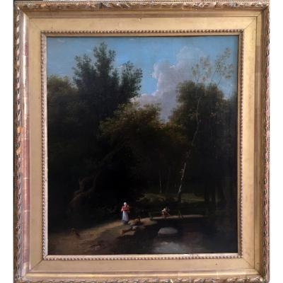 19th Century Animated Undergrowth Landscape