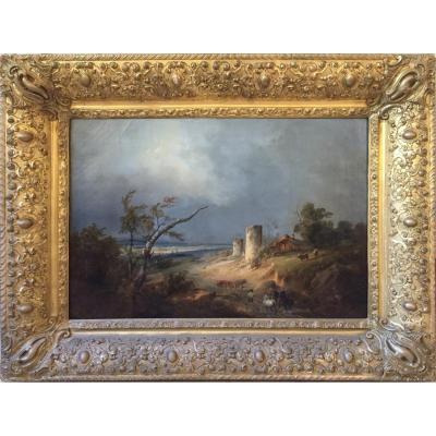 Landscape Signed Dubuisson 1834 (1805/1870)