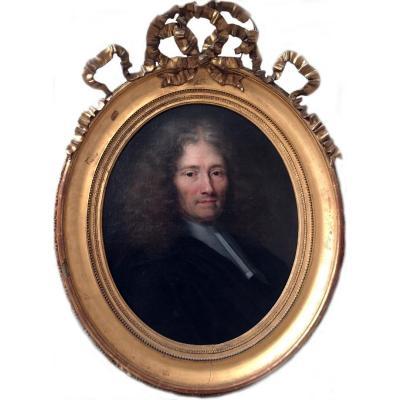 Portrait  D'homme Claude Lefèbvre (1632/1675) Entourage