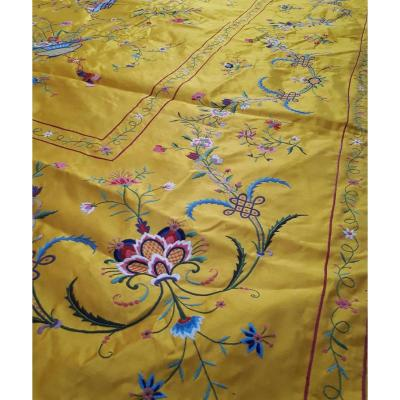 Large Embroidered Silk Panel China 19th