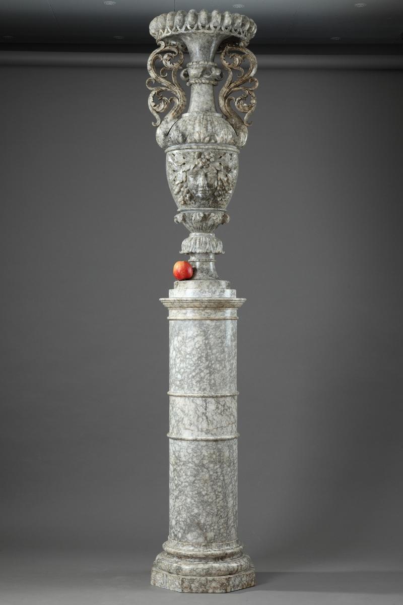 Gaine Décorative En Albâtre d'époque Louis-philippe
